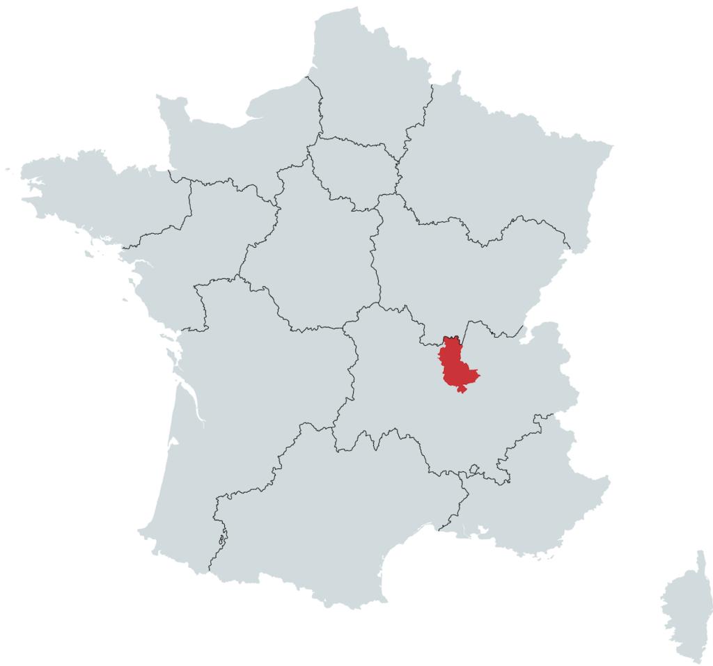 Beaujolais Vinregion Kort