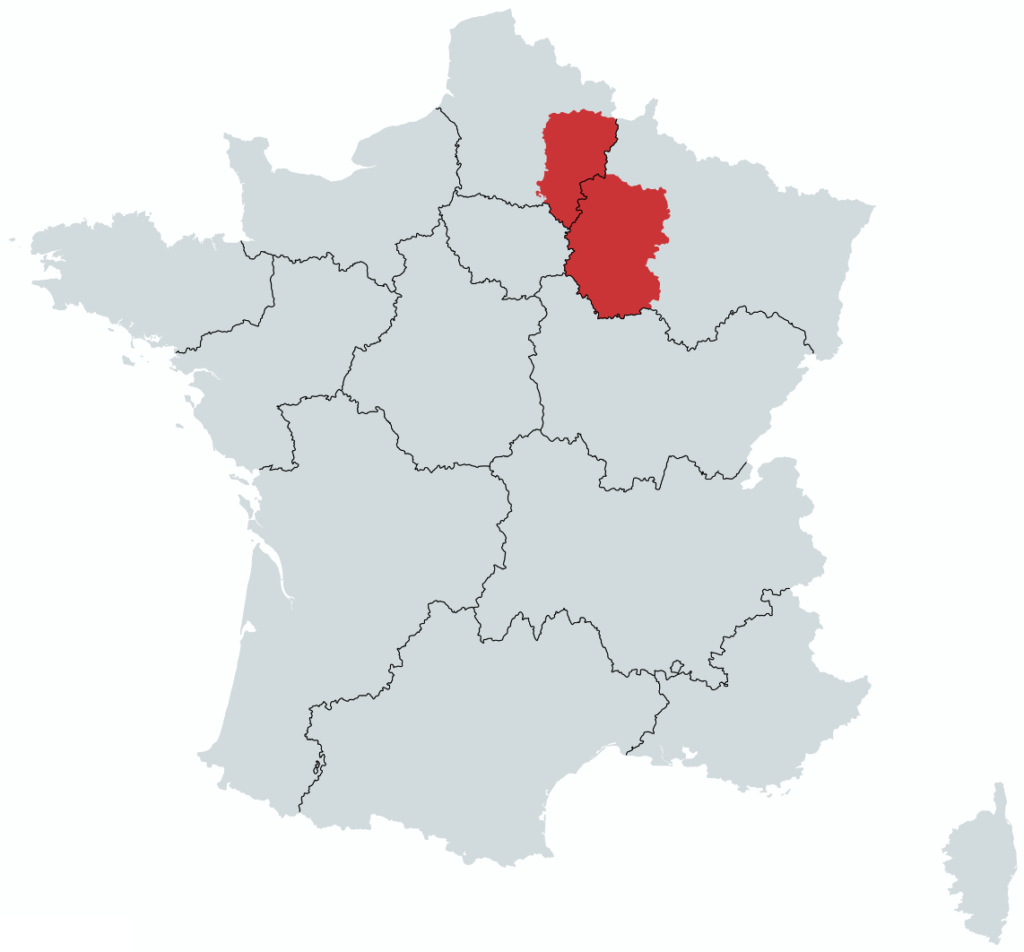 Champagne Vinregion Kort